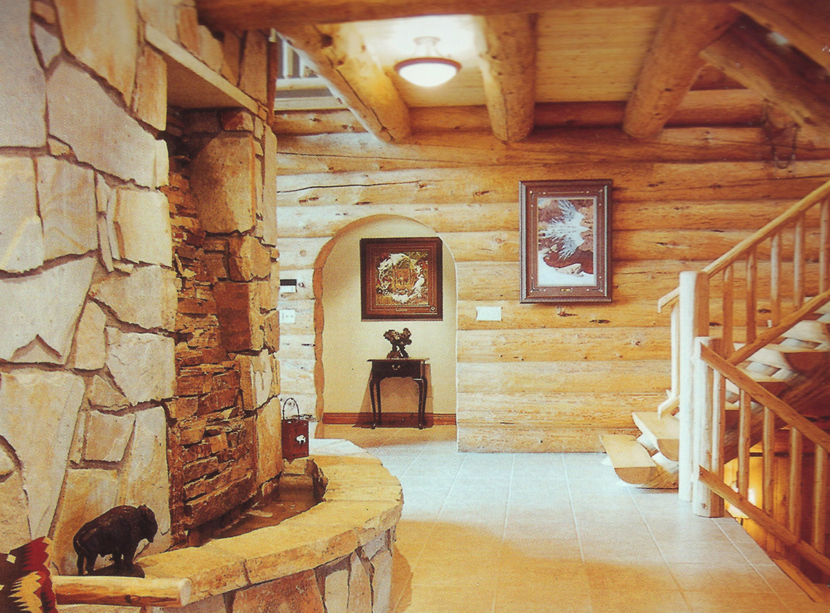 Handcrafted Log Interior