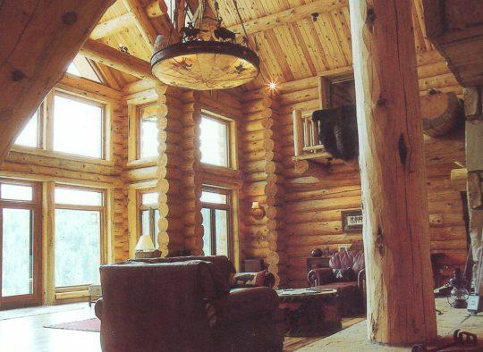 Handcrafted Log Interior