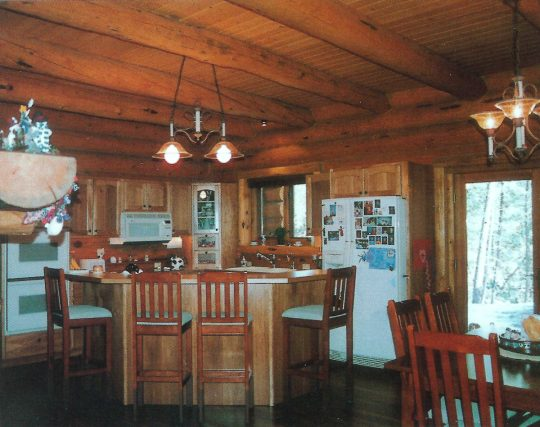 Handcrafted Log Home Interior